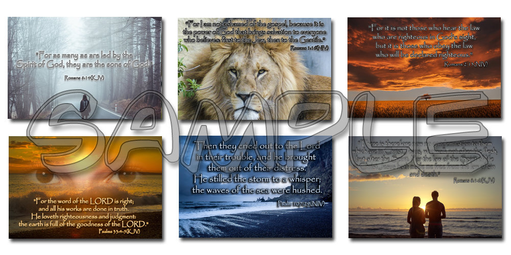 Sample Images from Share Your Faith Graphic images